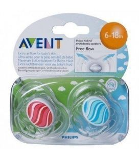 CHUPETE SILICONA PHILIPS AVENT DECORADOS 6- 18 M