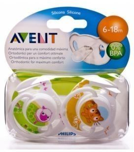 CHUPETE SILICONA PHILIPS AVENT ANIMALES 6- 18 M