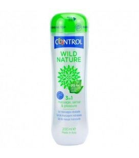 CONTROL GEL MASAJE WILD NATURE 200 ML.
