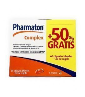 Pharmaton Pack 60 Cápsulas + 30 REGALO