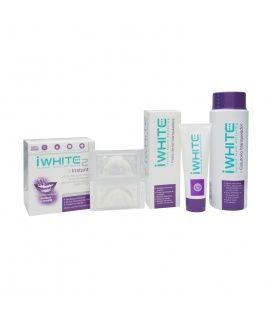 Iwhite pack Instant molde dental 10uds + 2 pasta 75ml + colutorio 500ml