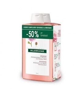 Pack Klorane Champu Calmante Al Extracto Peonia 400 Ml 2 Uds