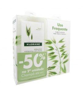 Pack Klorane Champu Extrasuave a la Leche de Avena 400Ml 2 Uds