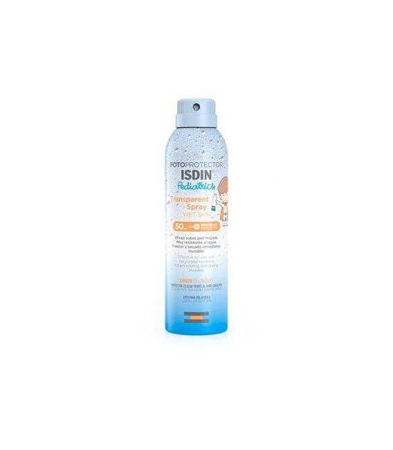 Fotoprotector Isdin Spray Pediatric Transparent Wet Skin SPF 50+