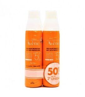 Avene Solar Spray SPF50+ Cara y Cuerpo 200ml+200ml Pack Duplo