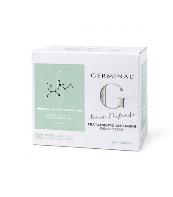 Germinal 3.0 Tratamiento Antiaging 1,5 Ml 30 Amp Pieles Secas