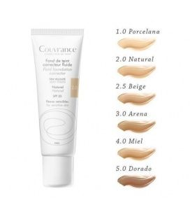 Avene Couvrance Maquillaje Fluido Color Natural 30 ml