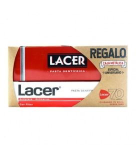 Lacer Pasta Dental 125 ml + Caja Metálica de Regalo