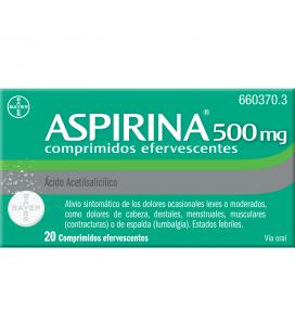 Aspirina 500 mg Comprimidos Efervescentes
