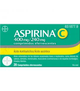 ASPIRINA C 400/240 MG 20 COMPRIMIDOS EFERVESCENTES
