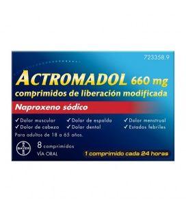 Actromadol 660 Mg 8 Comprimidos De Liberación