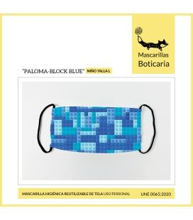 Mascarilla Boticaria Paloma Block Blue Infantil