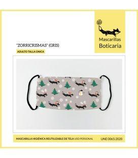Mascarilla Boticaria Zorricrismas Gris (Adulto)