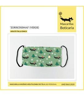 Mascarilla Boticaria Zorricrismas Verde (Adulto)