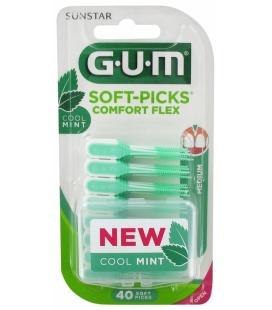 Gum Soft Picks Confort Flex Reg Mint 40U