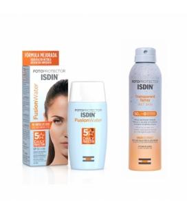 Isdin Pack Fusion Water + Transparente Spray 100Ml