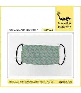 MASCARILLA BOTICARIA CORAZON ATOMICO GREEN (INFANTIL TALLA L)