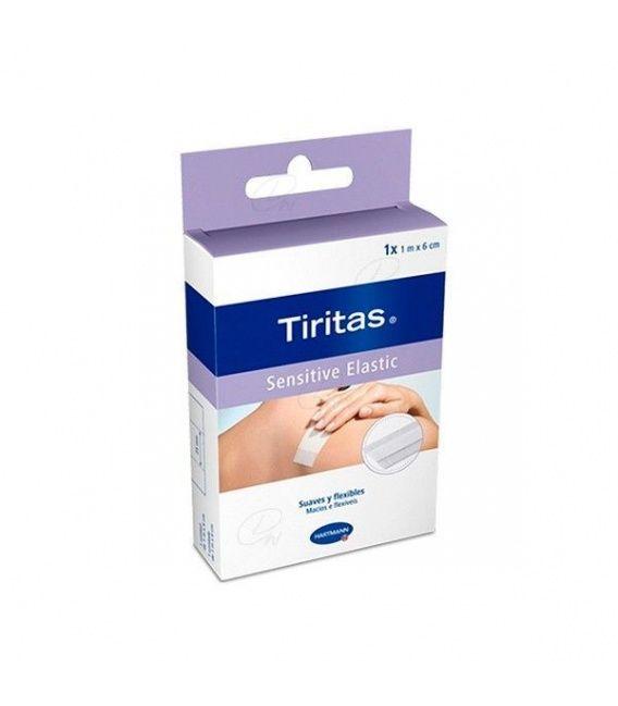 TIRITAS SENSITIVE ELASTIC 8CMX1M 1 ROLLO