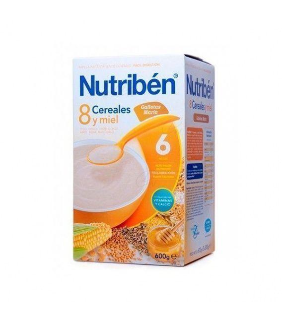 Papillas - Nutriben 8 Cereales Miel Galletas 600