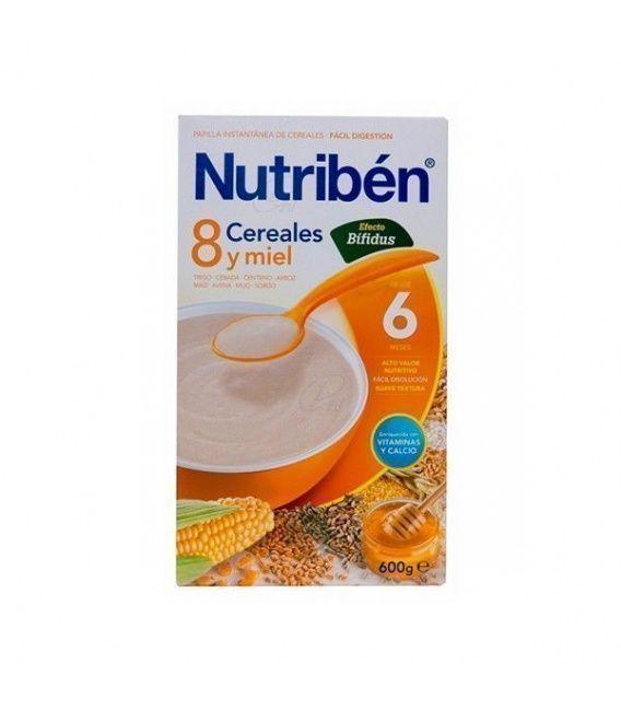 Papillas - Nutriben 8 Cereales Miel Efecto Bifid