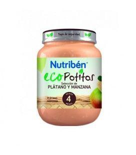 NUTRIBEN ECO POTITO SELECCION PLATANO Y MANZANA INICIO 250 G