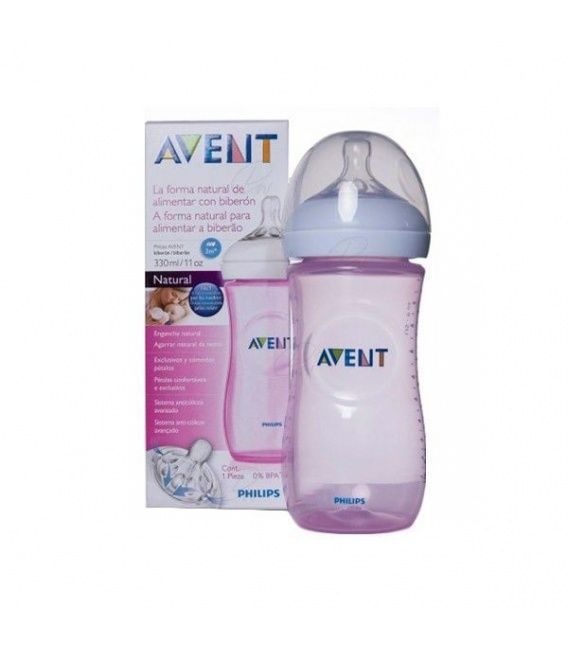 Biberon Pp Natural Philips Avent 330 Ml Rosa