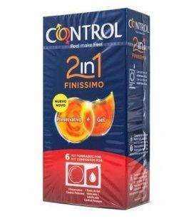 2in1 Finissimo+ Lube Nature 6 Uds