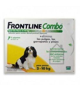 FRONTLINE COMBO PERROS 2-10KG 3 PIPETAS