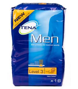 TENA MEN LEVEL 3 16 U ABSORB INC ORINA LIGERA