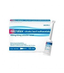 Micralax 45 Mg/450 Mg Emulsion Rectal 12 Microenemas