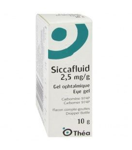 SICCAFLUID 2.5 MG/G GEL OFTALMICO 10 G